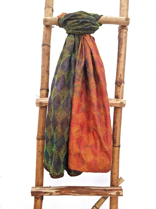 Diamond Shape Kantha Scarf