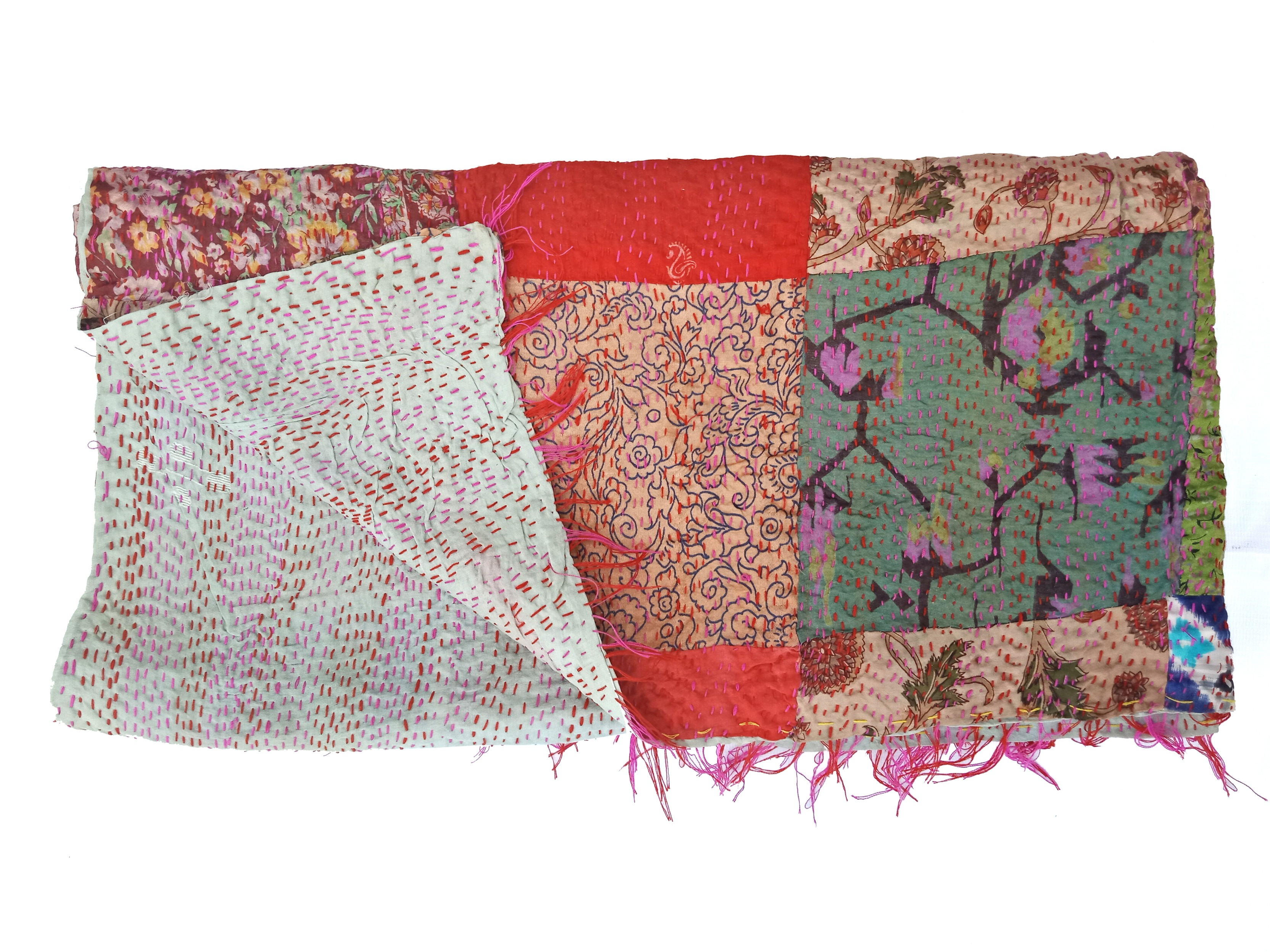artisan made handmade kantha scarf