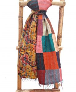 Vintage Patchwork Kantha Scarf