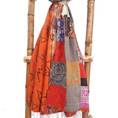 Patchwork Vintage Kantha Scarf