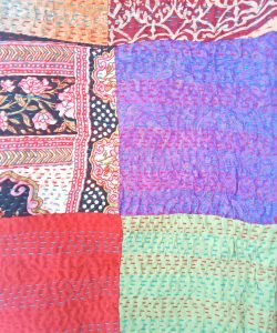paisley kantha cotton scarf