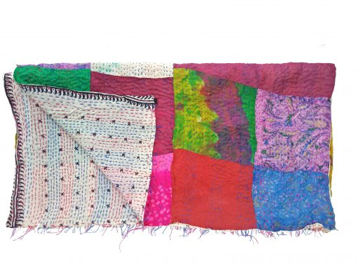 reversible kantha stole