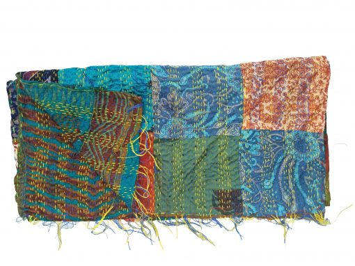 patchwork kantha quilting scarf