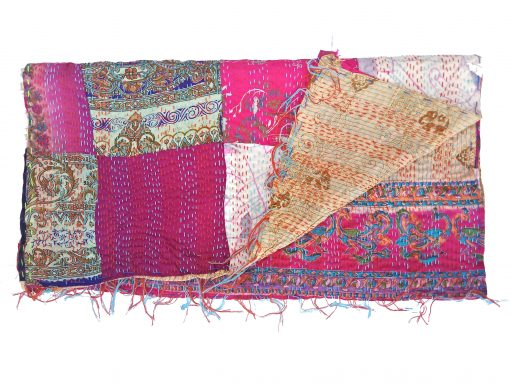indian patchwork kantha scarf