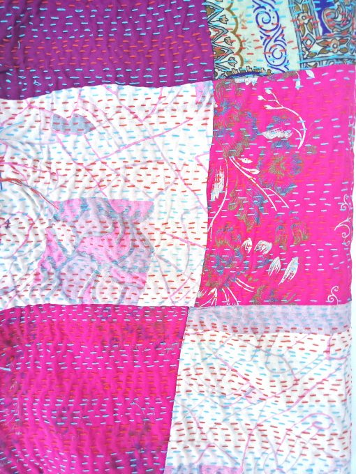 patchwork kantha indian scarf