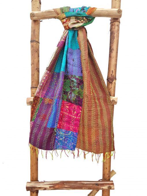 Artisan Hand-Stitched Kantha Scarf