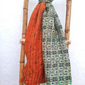 Vintage Indian Kantha Scarf