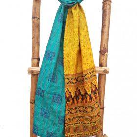 Vintage Kantha Cotton Scarf