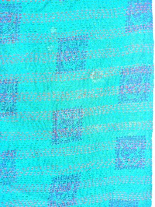 blue color kantha scarf