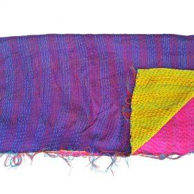 reversible kantha quilting scarf