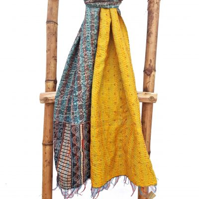 Multi Color Kantha Scarf