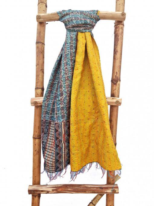 Multi Color Kantha Scarf