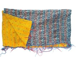 floral kantha embroidered scarf