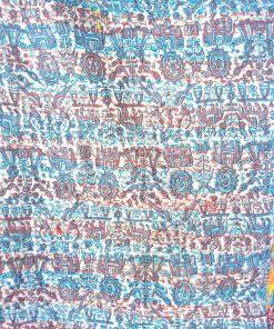 Reversible Kantha cotton scarf