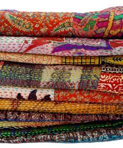 Indian Kantha Scarf Lot