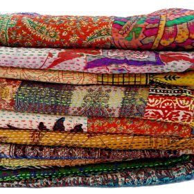 Indian Kantha Scarf Lot