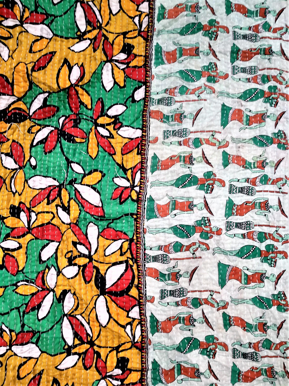 Multi color Kantha Quilt