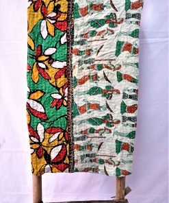 Egyptian Print Vintage Kantha Quilt
