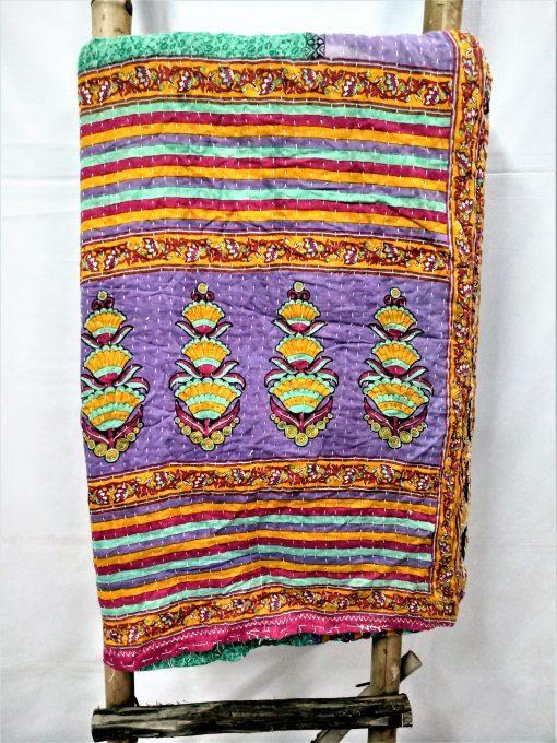 Designer Paisley Floral Kantha Quilt