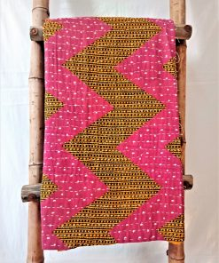 Zigzag Twin Indian Kantha Throw
