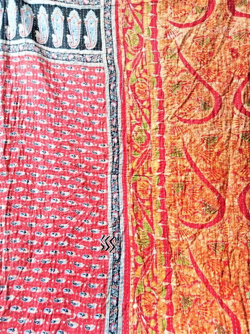 Paisley Red Kantha Throw