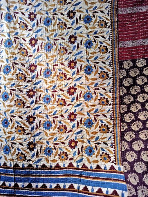 peacock kantha quilt