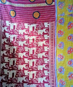 red kantha blankets twin