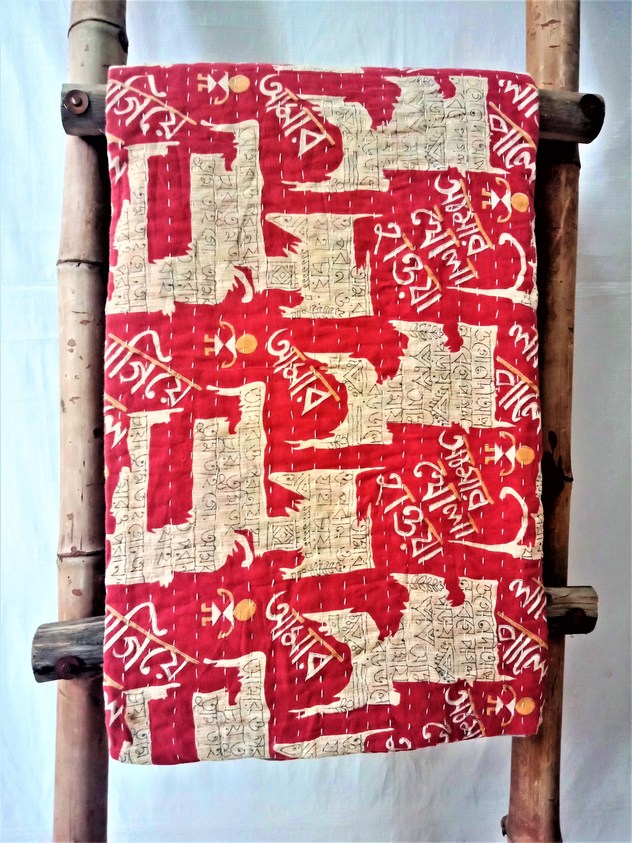 Polka Meditation Kantha Throw