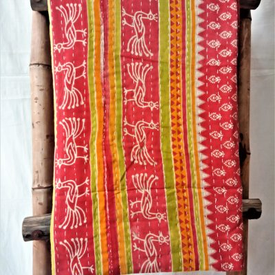 Peacock Kantha Gudari Throw