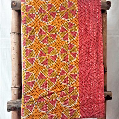 Geometric Pattern Vintage Kantha Quilt