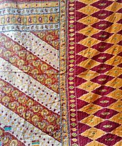 twin kantha quilt throw