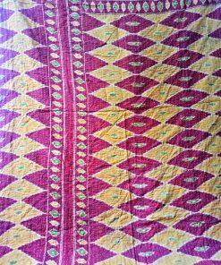 red kantha quilt
