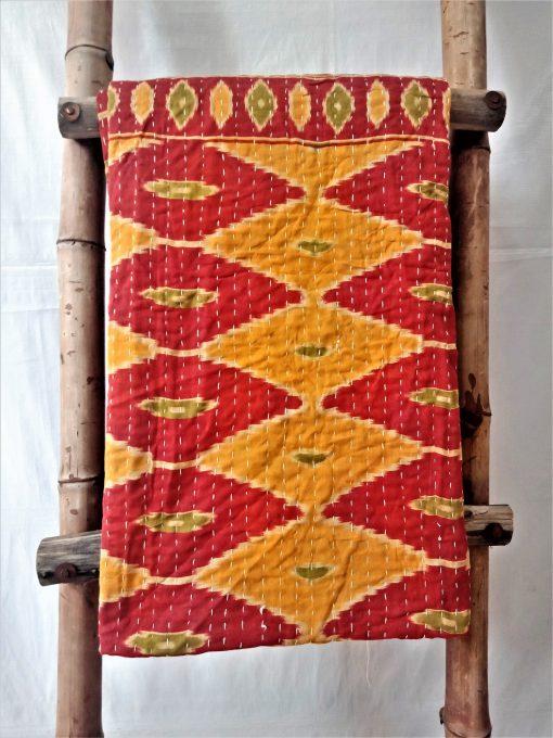 Garden Inspired Vintage Kantha Quilt