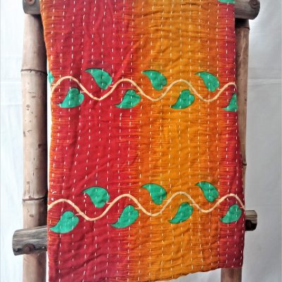 One Off Kind Vintage Kantha Quilt