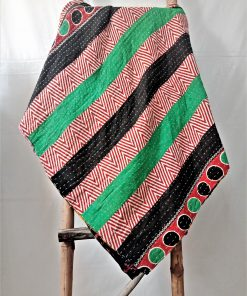 Multi-color kantha twin