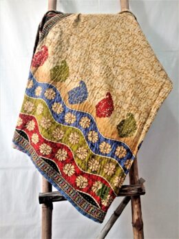 Boho Paisley Kantha Throw