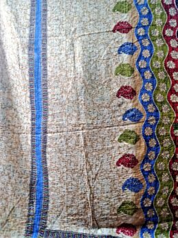 Boho Kantha Indian Quilt