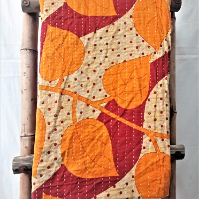 Homemade Vintage Kantha Throw
