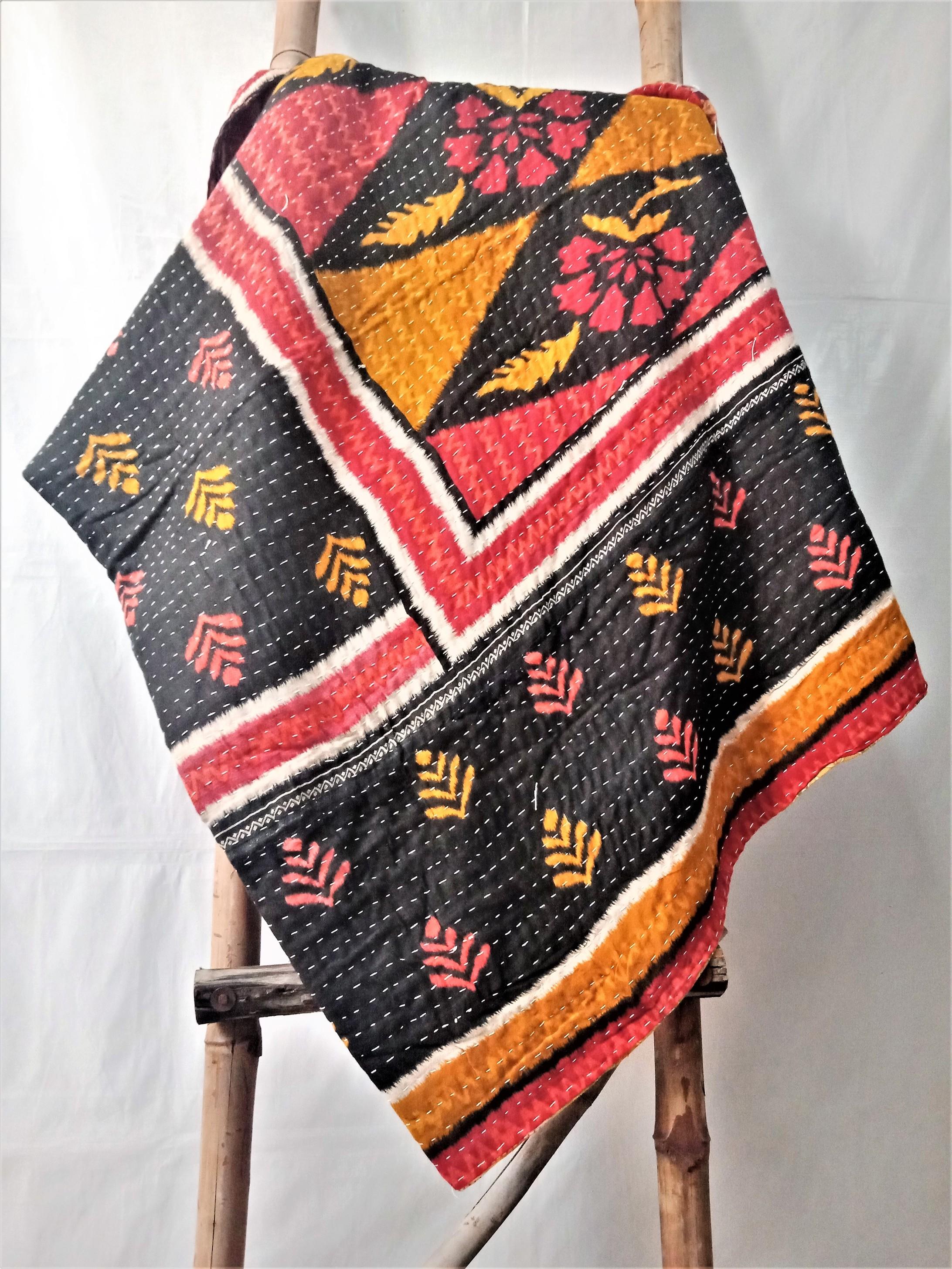 Handmade Kantha Throw