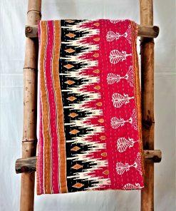 Geometric Paisley Vintage Kantha Quilt