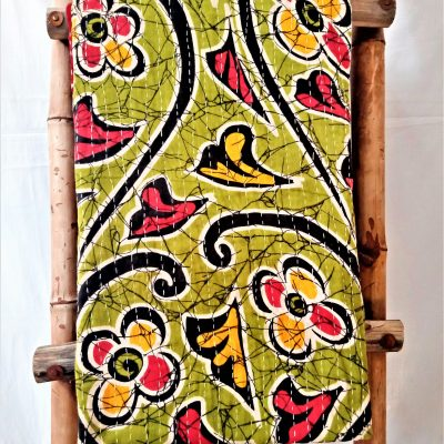 Spring Floral Pattern Cotton Kantha throw
