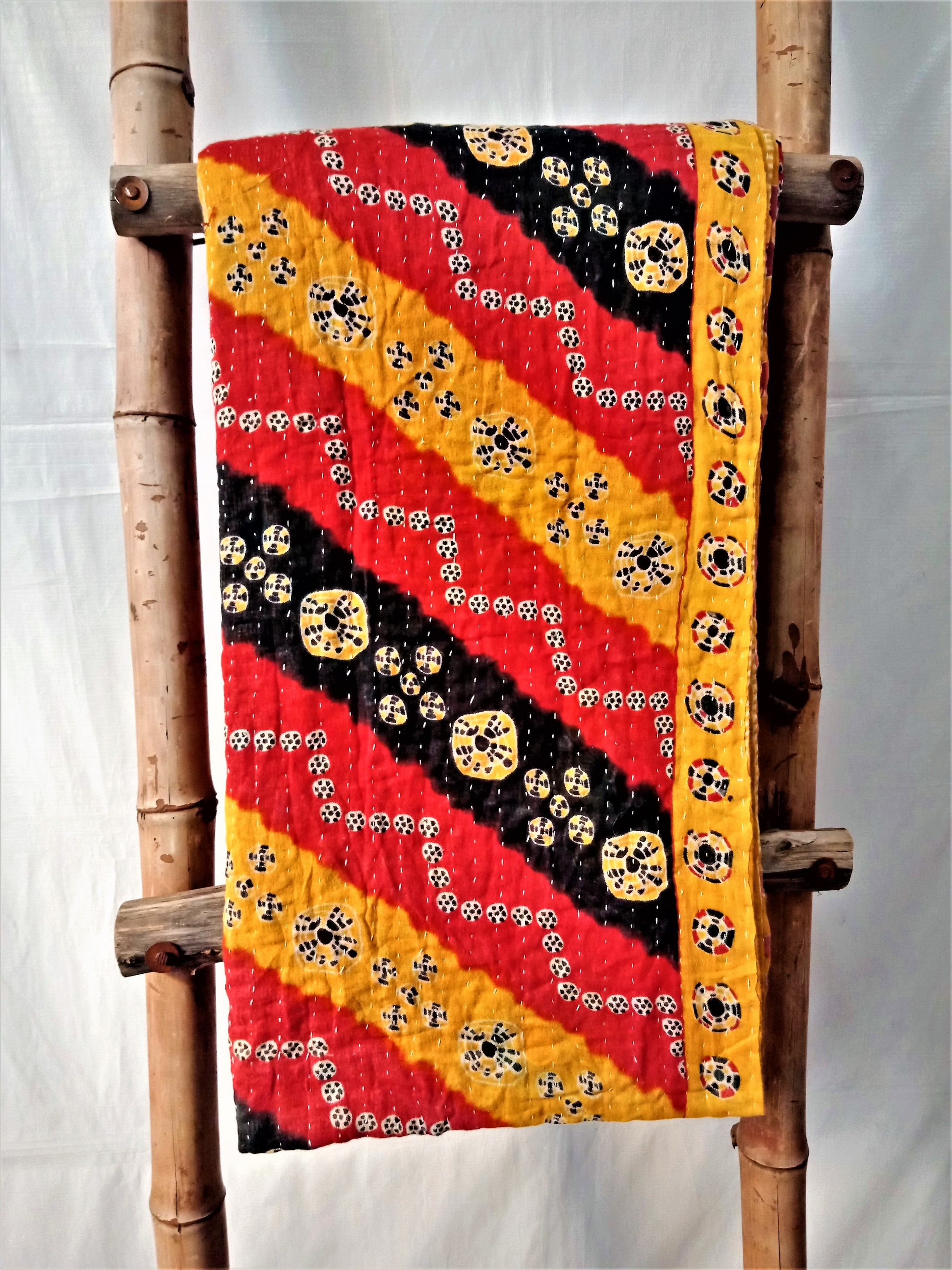 Indian Quilted Kantha Throw