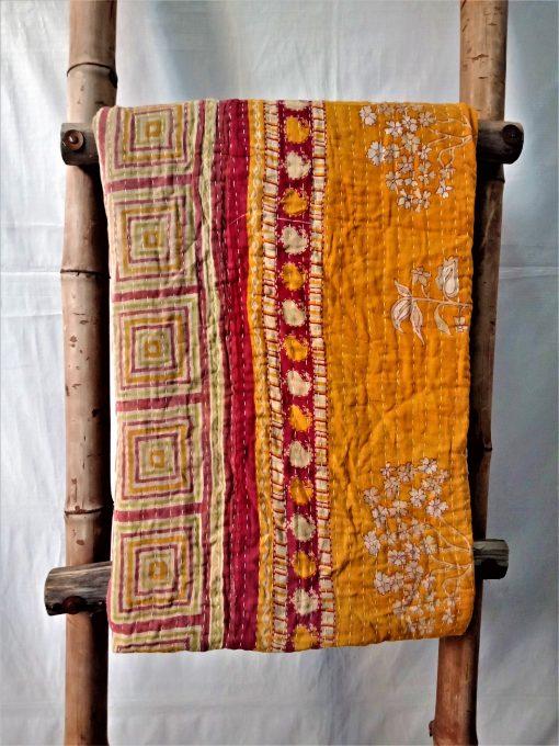 Indian Multi Color Kantha Quilt