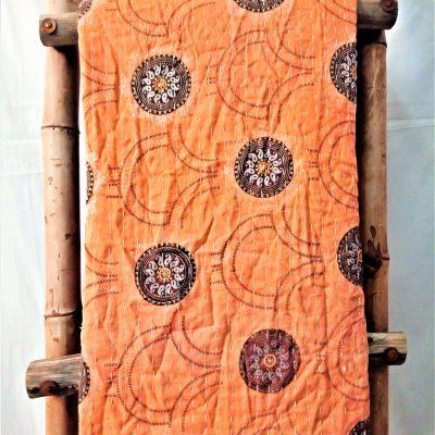 Circular Paisley Vintage Kantha Quilt