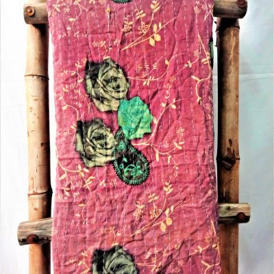 Roses Pattern Vintage Kantha Throw