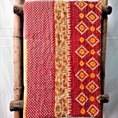 Cotton Twin Kantha Throw