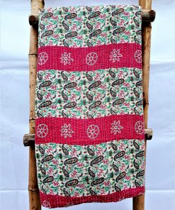 Best Selling Geometric Vintage Kantha Quilt