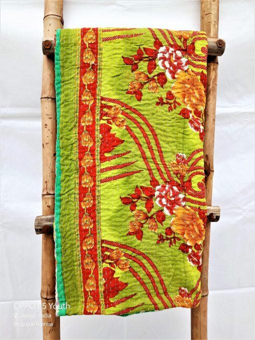 Indian Kantha Quilt Artisan Made