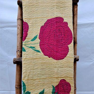 Large Queen Vintage Kantha Quilt