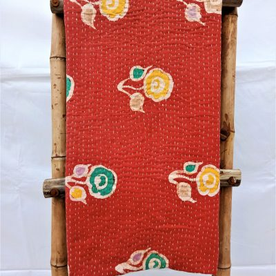 Vintage Kantha Reversible Queen Throw